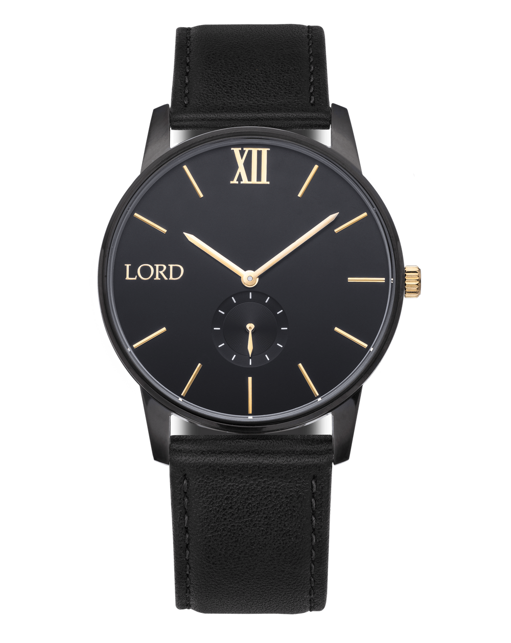 solitude black gold watch men s watches lord timepieces solitude black watch men s watches lord timepieces