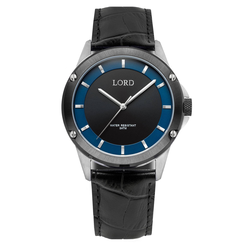 Black-Blue-Silver-Watch-Men's-Watches-Lord-Timepieces