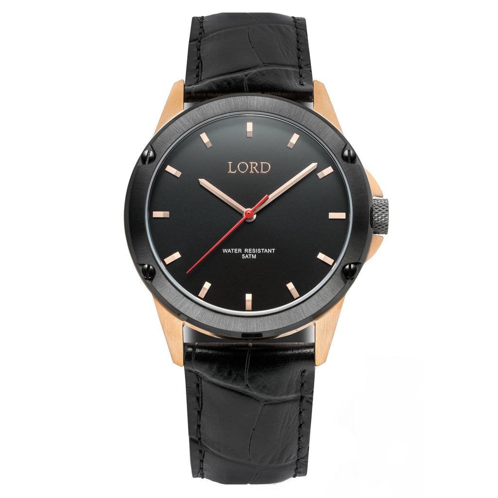 Bolt Black Rose Watch | Men's Watches | Lord Timepieces
