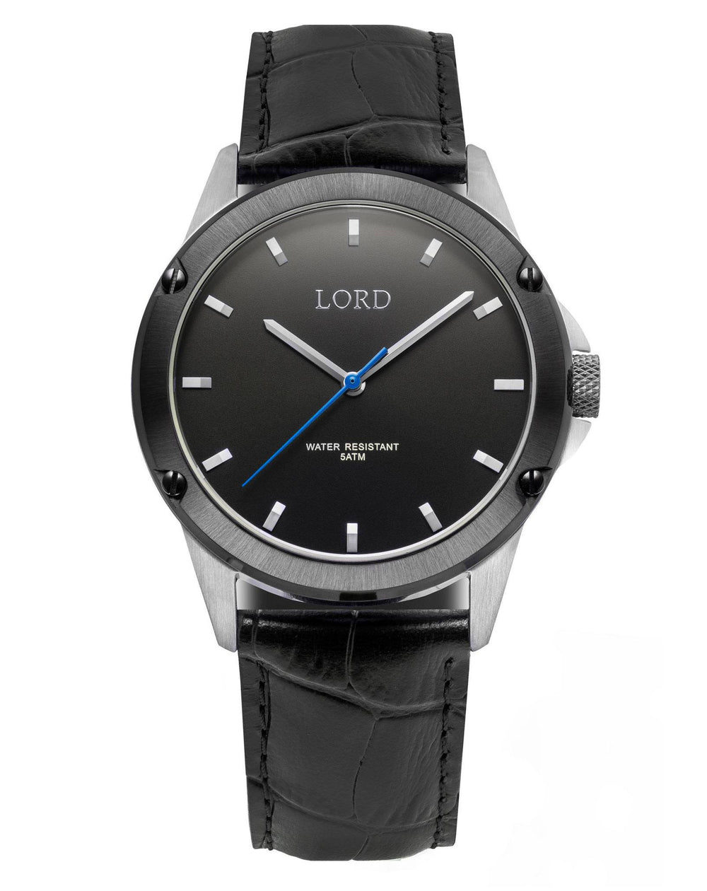 Bolt-Black-Silver-Watch
