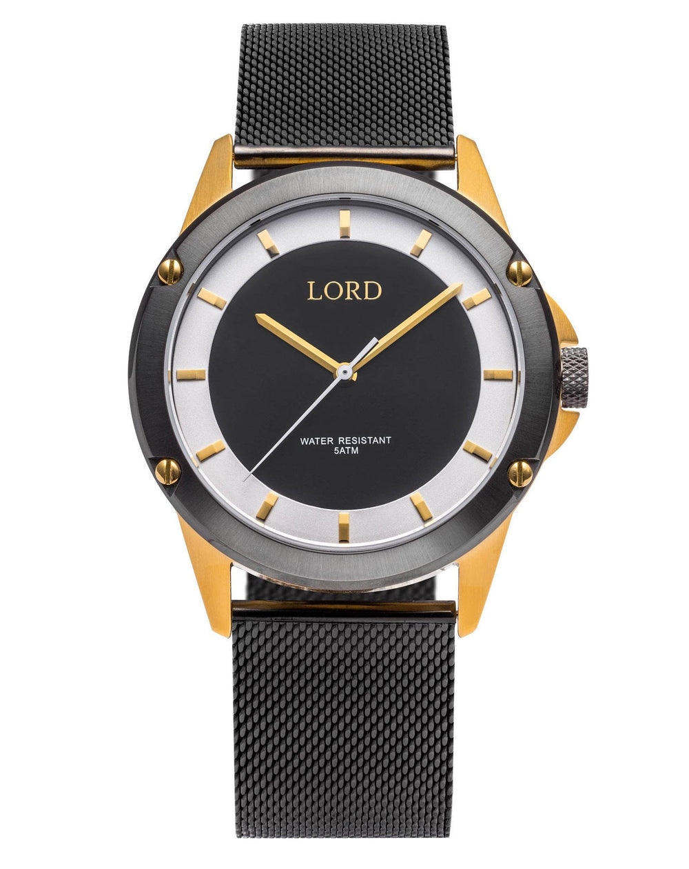 Black/White-Gold-Watch-Men's-Watches-Lord-Timepieces