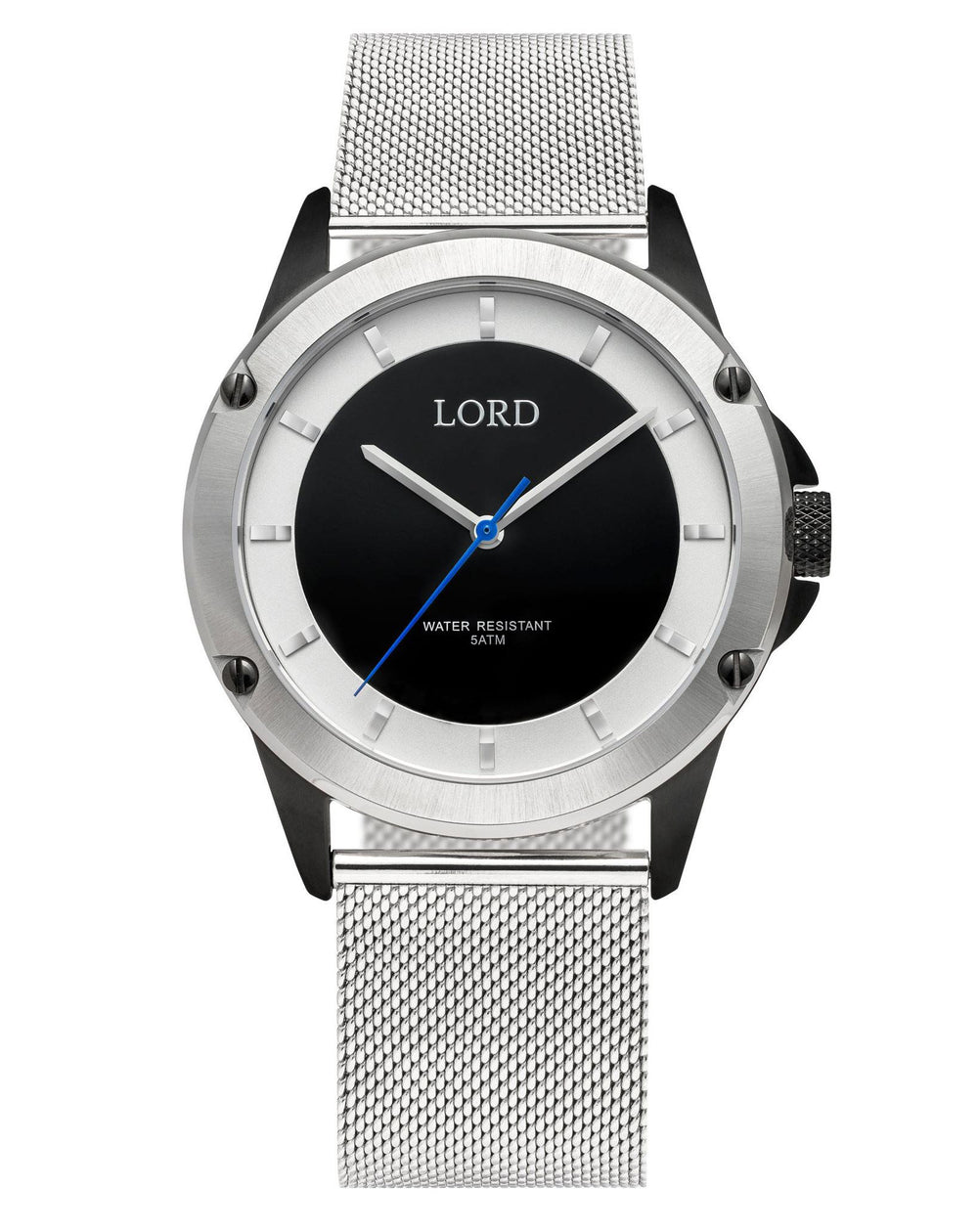 Bolt Black/White Gold | Premium Black & Gold Watch | Lord Timepieces