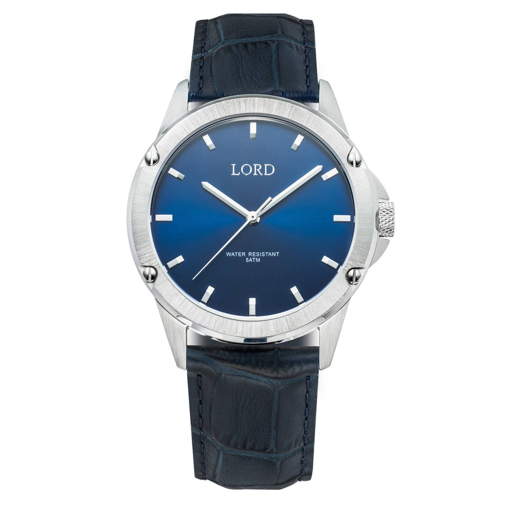 Bolt Blue Silver Watch | Men's Watches | Lord Timepieces
