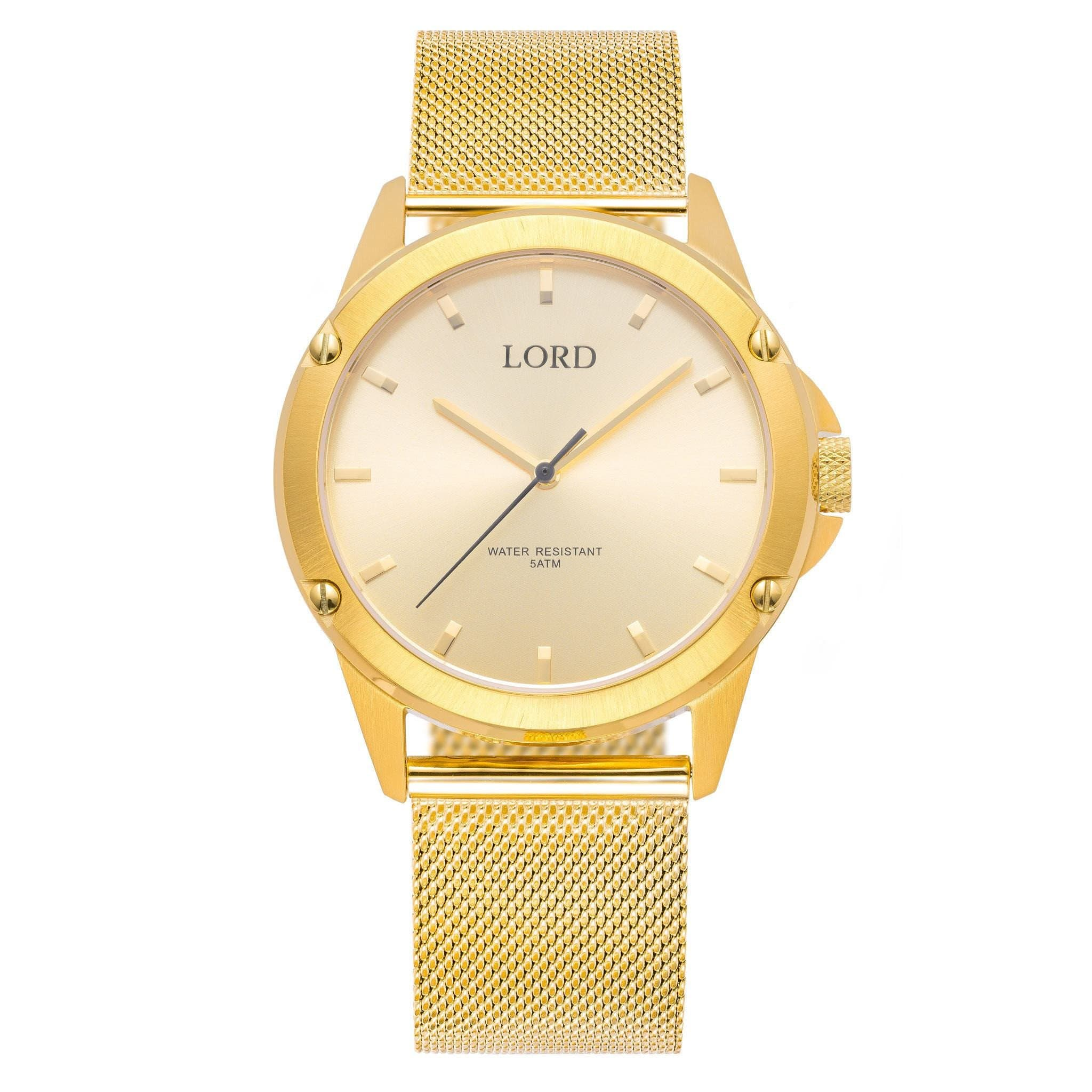 plated watch black diamond genuine luxurman yellow dial youtube golden watches gold