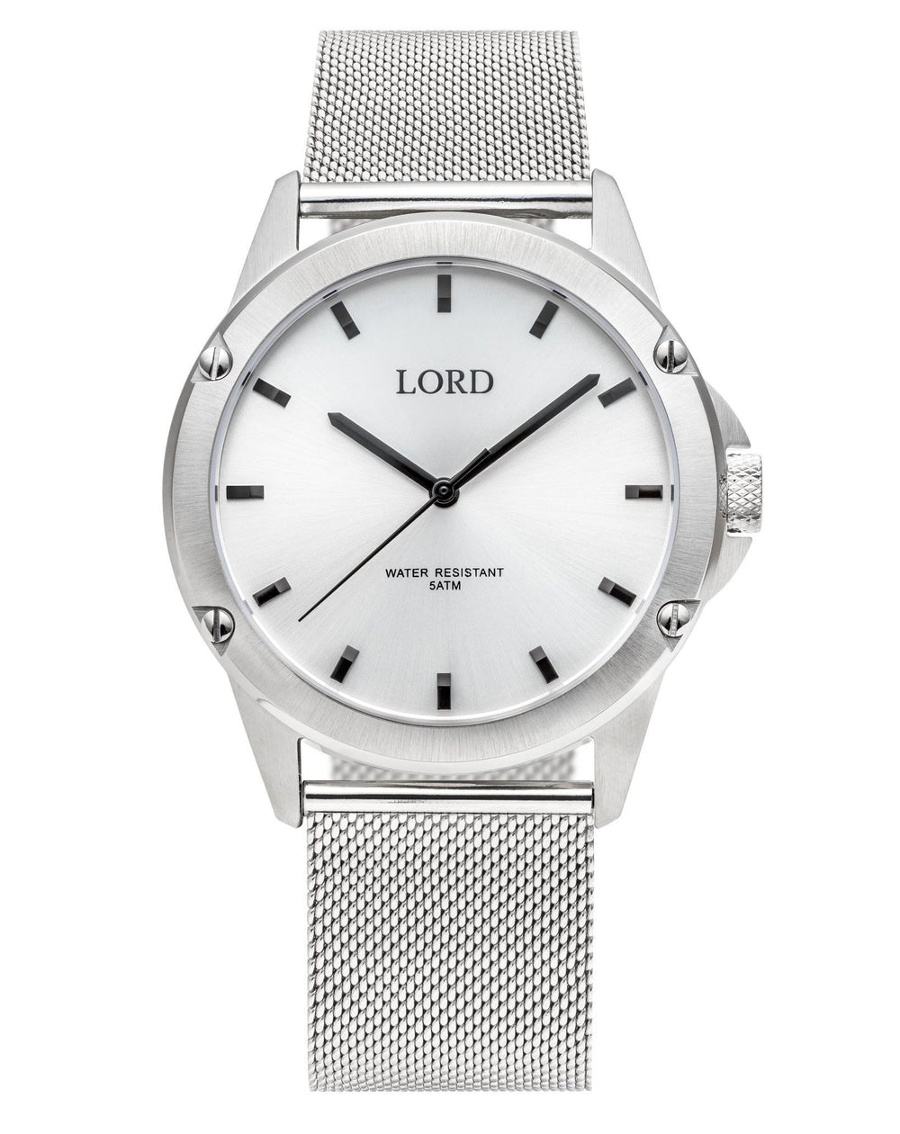 Bolt-White-Silver-Watch-Men's-Watches-Lord-Timepieces