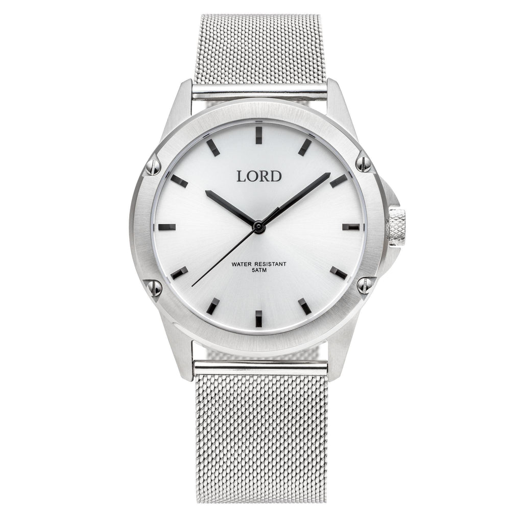 White Silver Watch | Men's Watches | Lord Timepieces