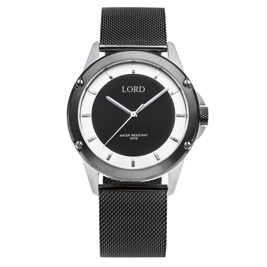 Black-Silver-Watch-Men's-Watches-Lord-Timepieces