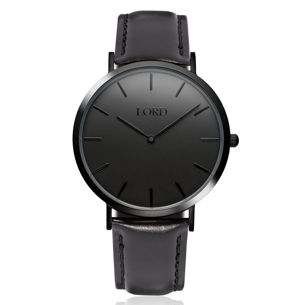 classic all black watch classic men s watches lord timepieces