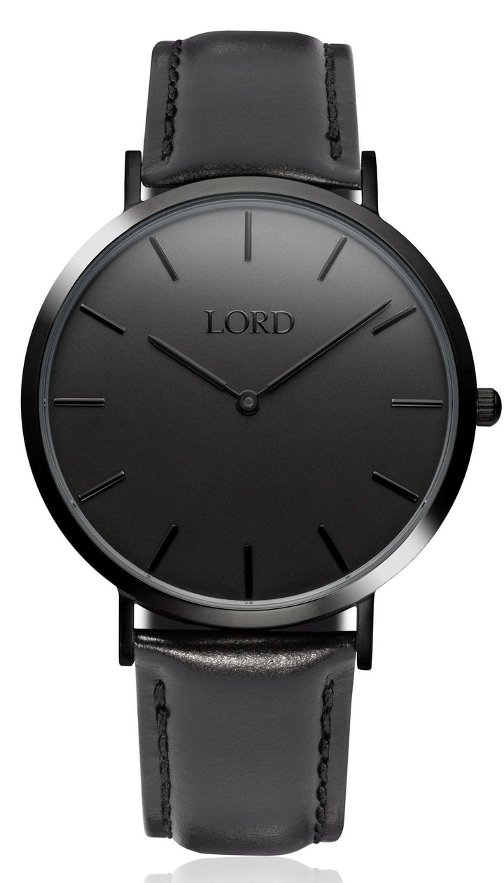 Classic All Black Watch | Classic Men's Watches | Lord Timepieces