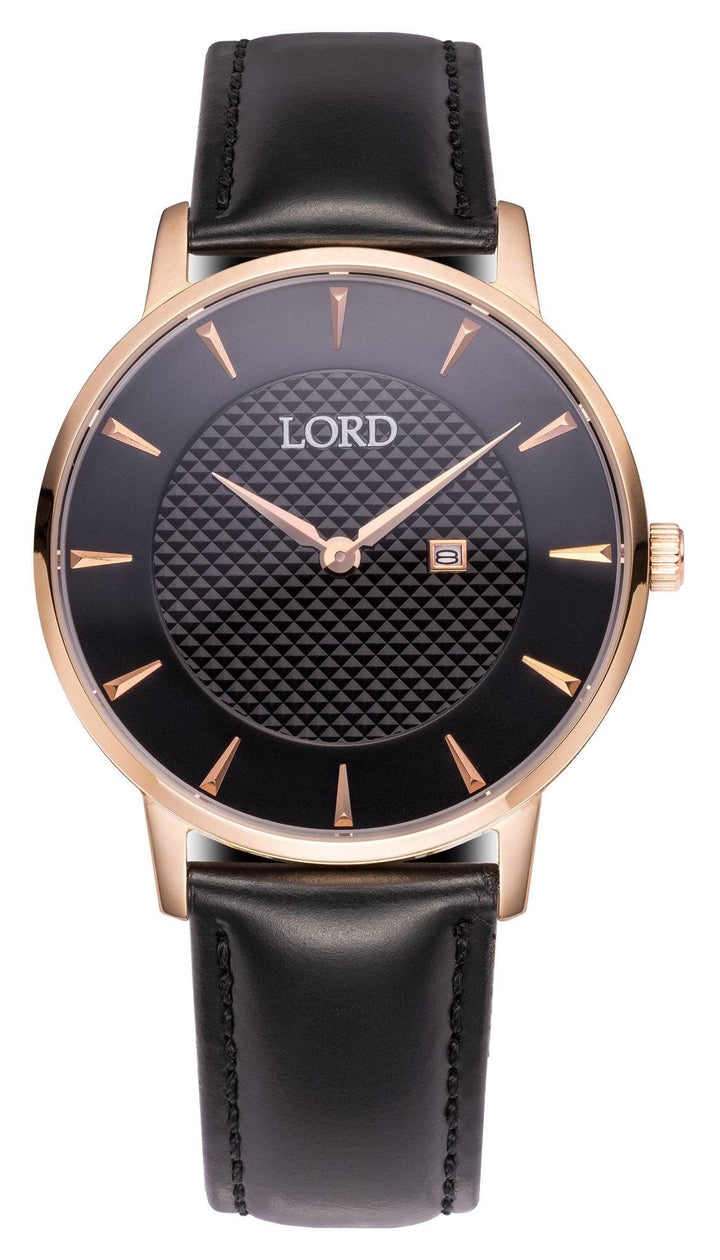 Classic Date Black Watch | Men's Watches | Lord Timepieces
