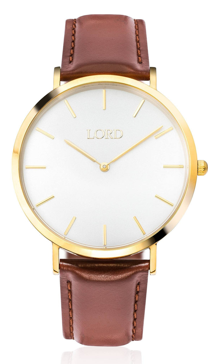 Lord Timepieces - Classic Tan Watch front