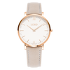 Classic-Grey-Ladies-Watch-White-Face-Golden-Hands
