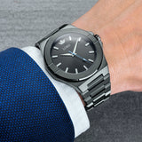 Lordtimepieces-infinity-Gunmetal-link-watch-wrist-shot
