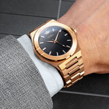 Lordtimepieces-infinity-rose-gold-link-watch-wrist-shot