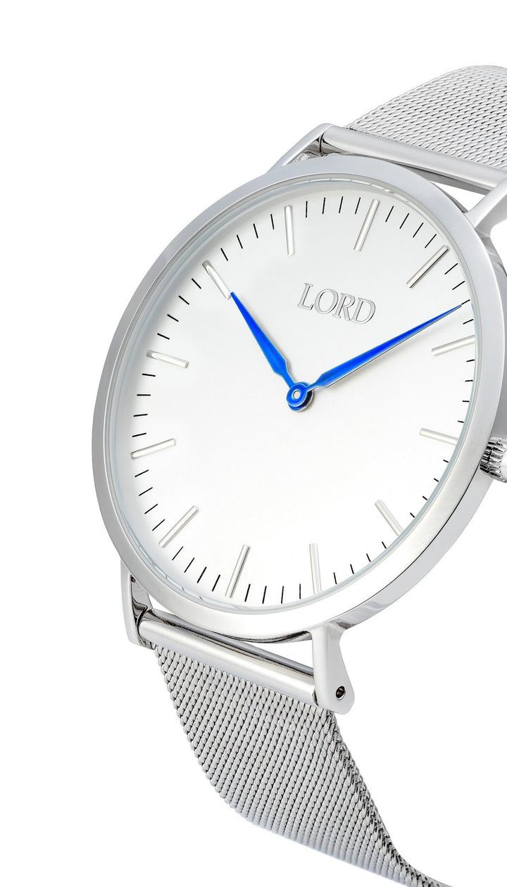 Classic Silver Watch | Men's Watches | Lord Timepieces Side
