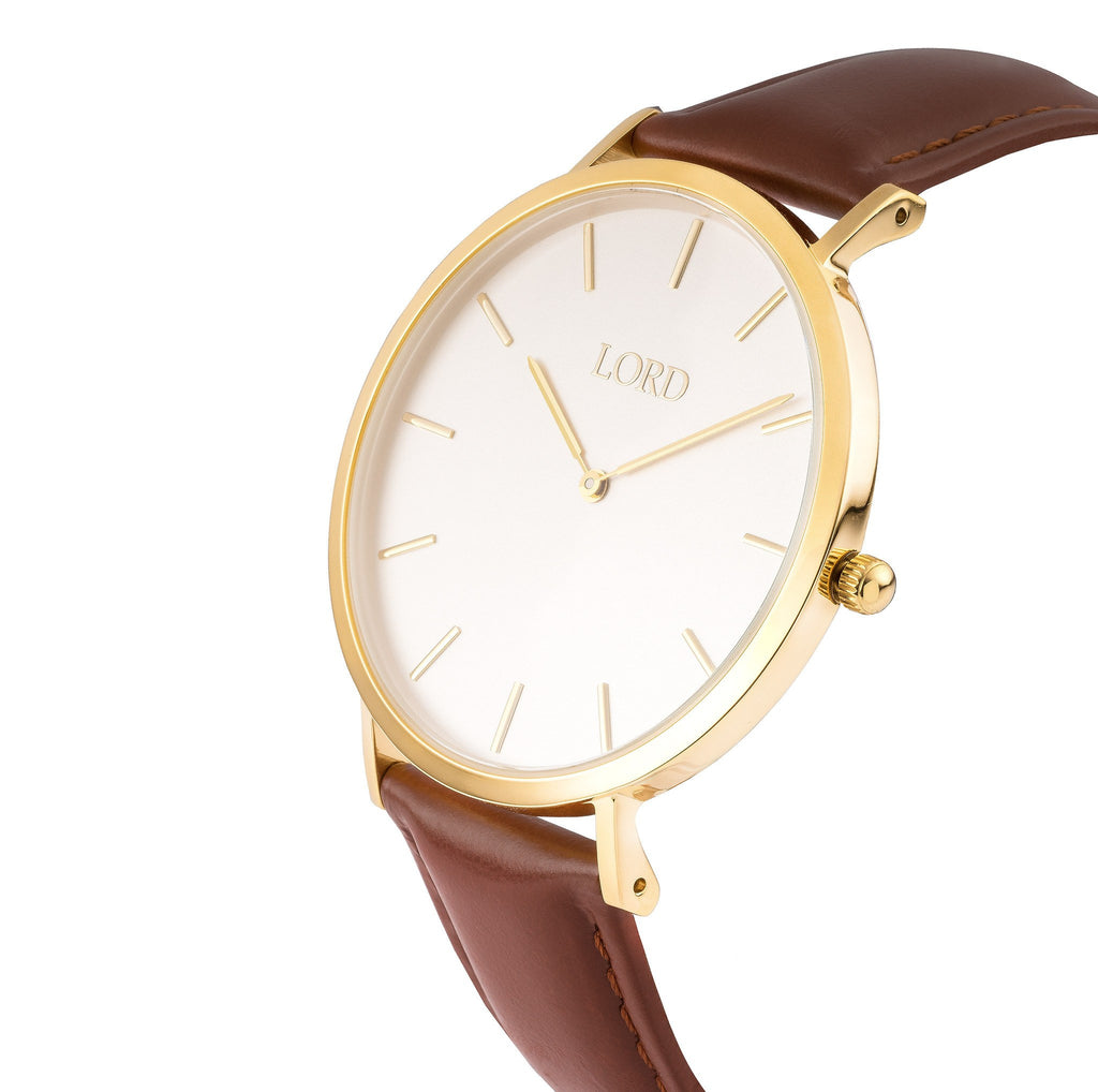 Lord Timepieces - Classic Tan Watch 3D