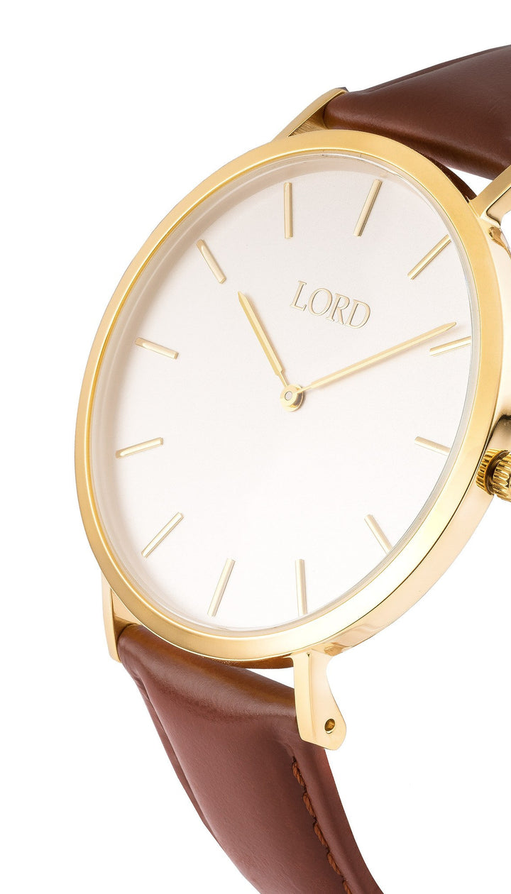 Classic Tan Watch | Classic Men's Watches | Lord Timepieces Side