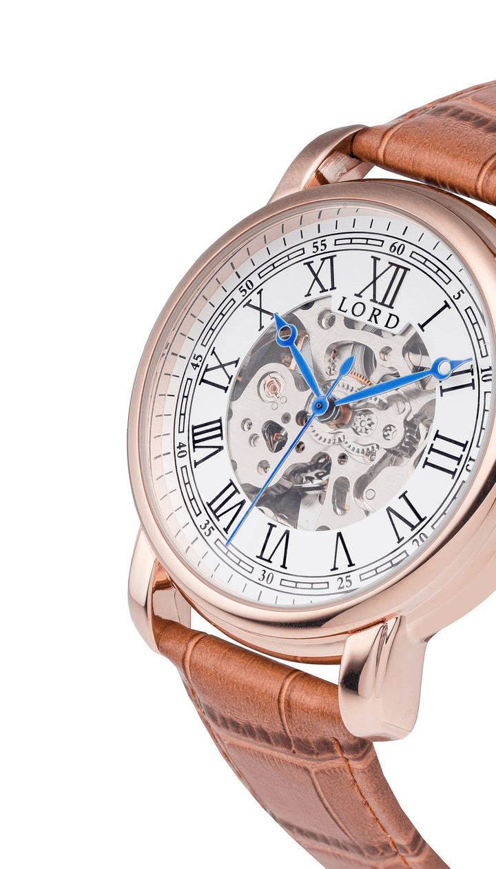 White Gold Heritage Watch | Men's Watches |  Lord Timepieces Side
