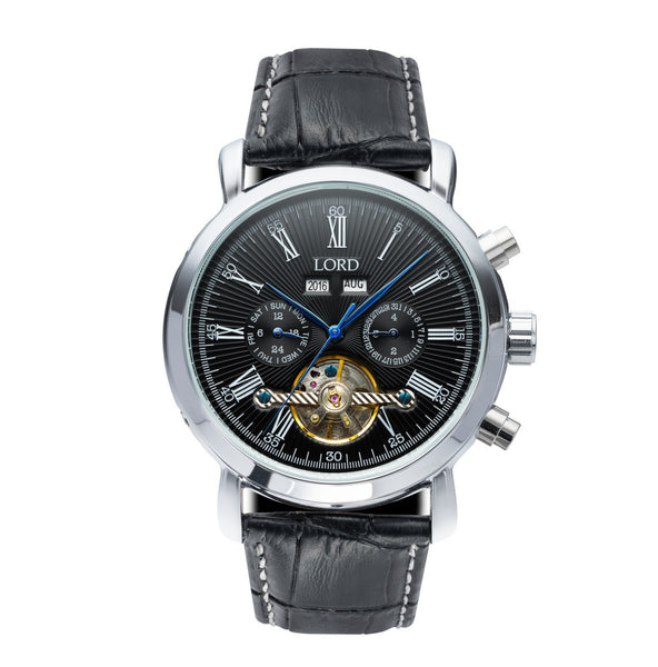 Kingston black luxury men 39 s watches lord timepieces for Lord timepieces