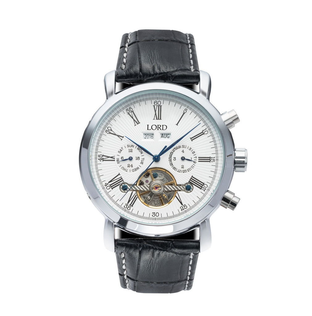 Kingston Silver White Watch | Men's Watches | Lord Timepieces