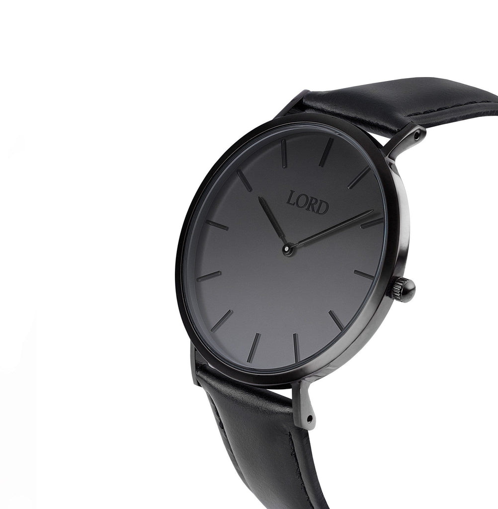 Classic All Black Watch | Classic Men's Watches | Lord Timepieces front