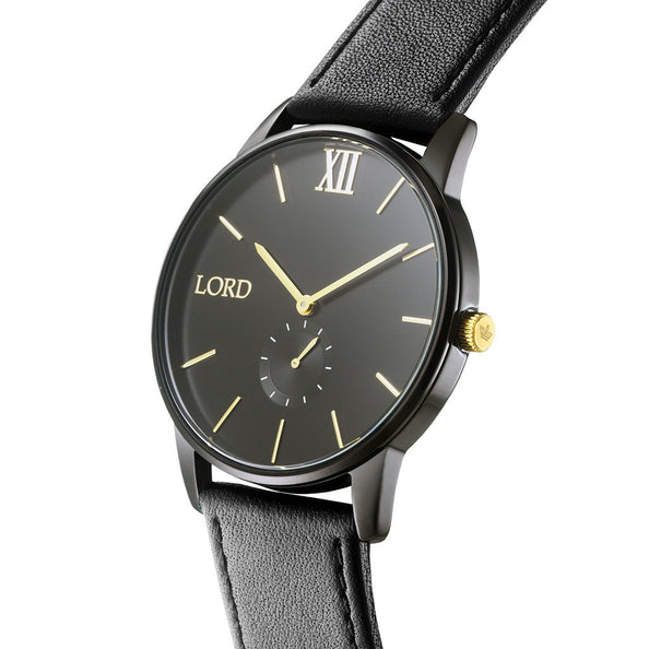 Solitude Black Watch | Men's Watches | Lord Timepieces on hand