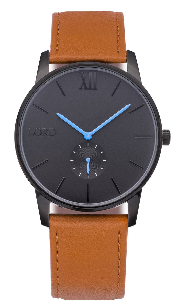 Solitude Tan Leather Watch | Men's Watches | Lord Timepieces