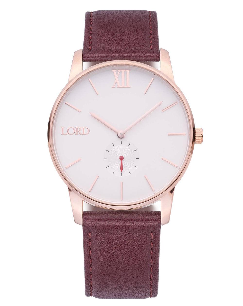 Rose Gold Brown Watch| Men's Watches | Lord Timepieces