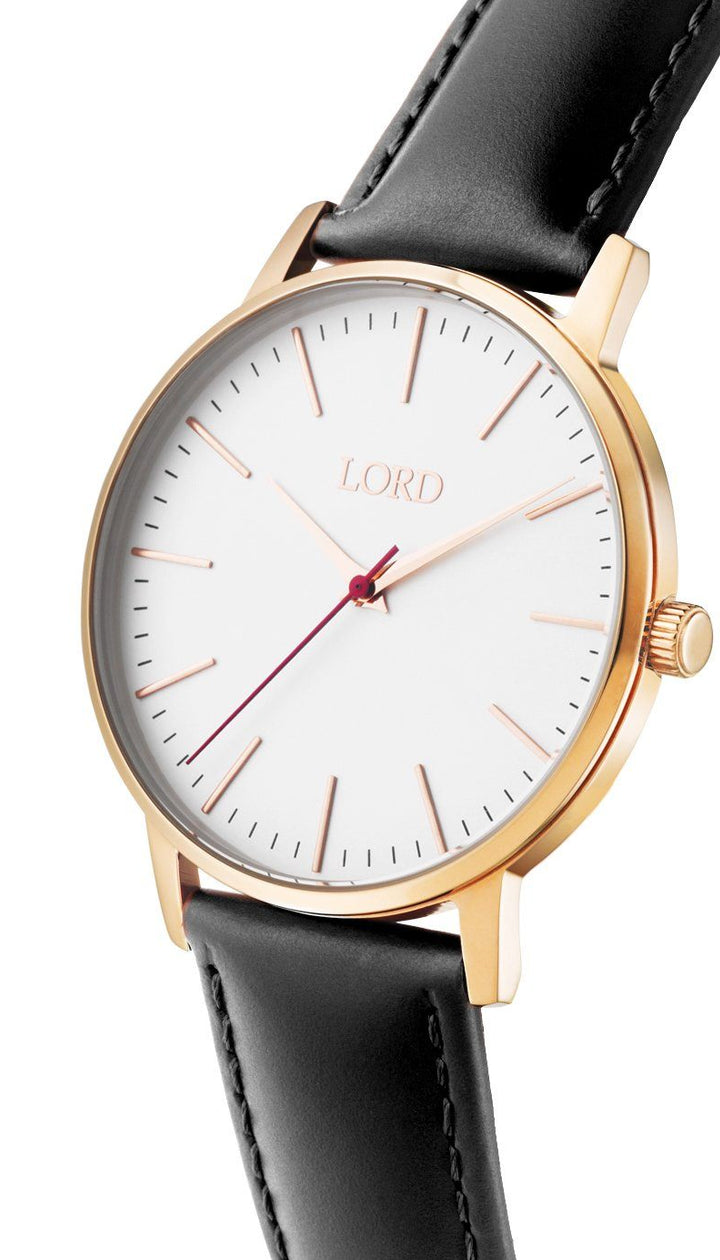 Noble-Rose-Gold-Black-Leather-Watch-Side