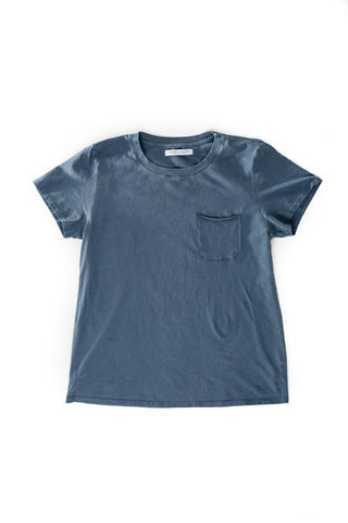 WOMEN'S POCKET-T NAVY TATTERED