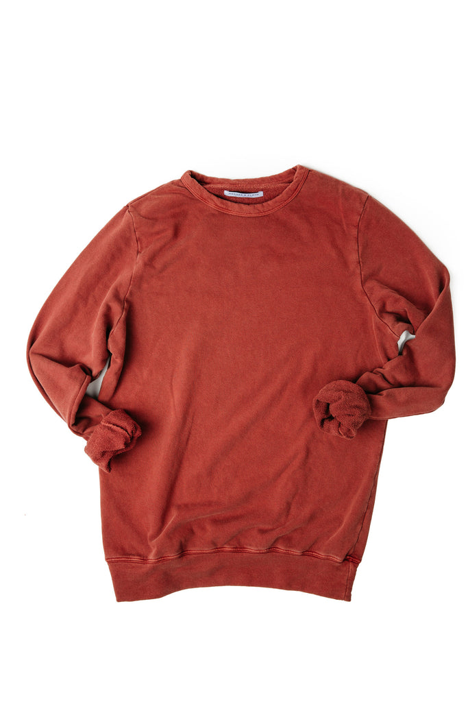 MEN'S LIGHTWEIGHT SWEATER TATTERED RED