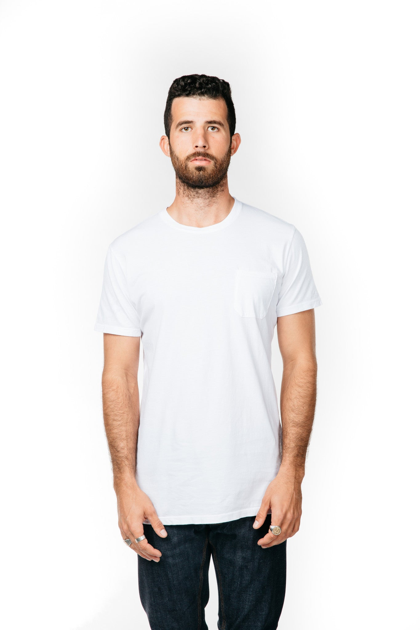 MEN'S POCKET-T WHITE