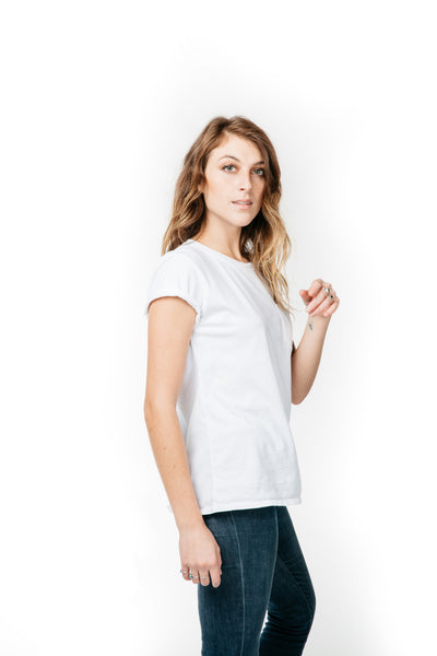 WOMEN'S POCKET-T WHITE