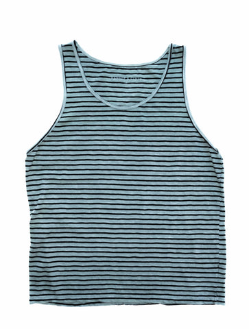 STRIPED SAGE SLUB TANK