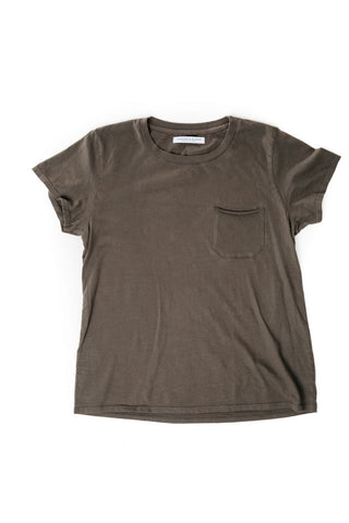 WOMEN'S POCKET-T BLACK SMOKE
