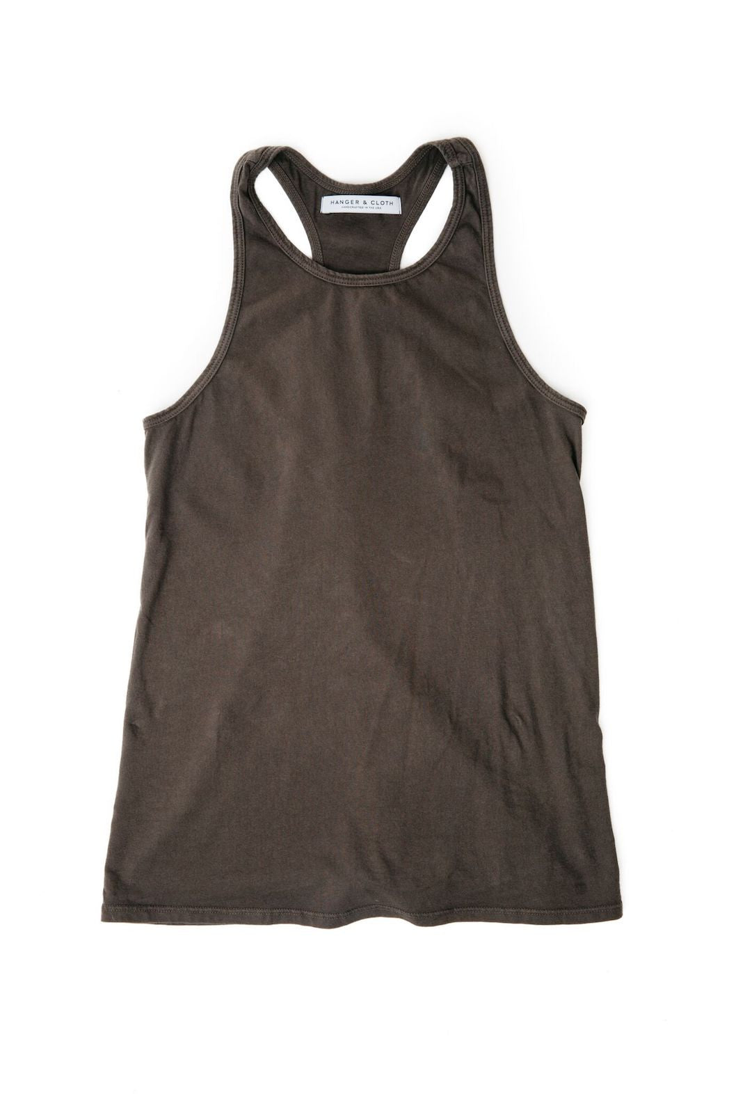 THE RACERBACK TANK BLACK SMOKE