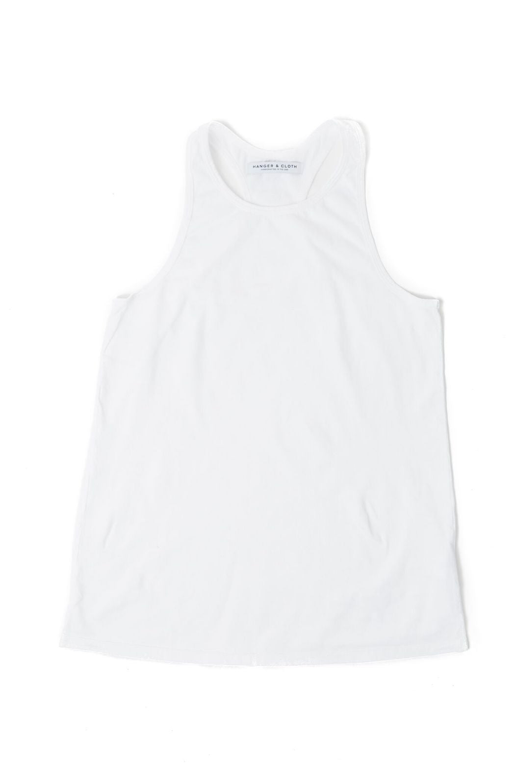 THE RACERBACK TANK WHITE