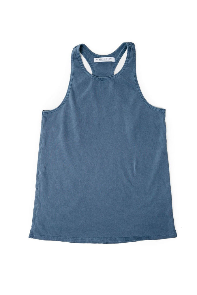 THE RACERBACK TANK NAVY TATTERED
