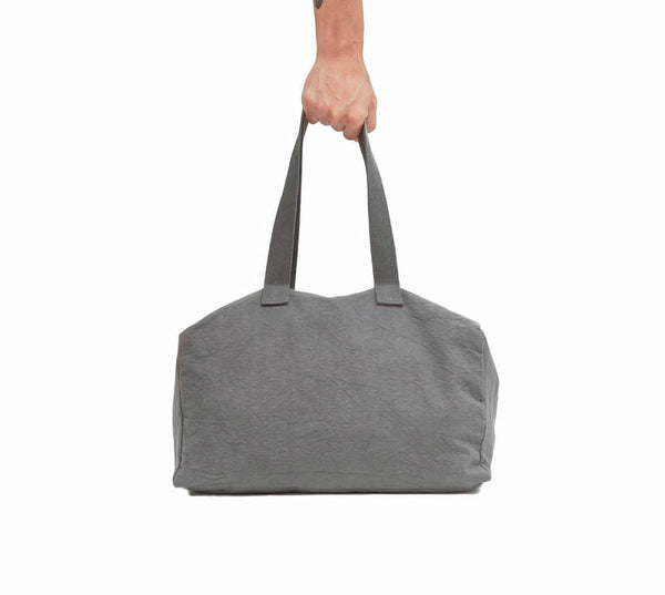 Soft Gray Cotton Canvas Duffel