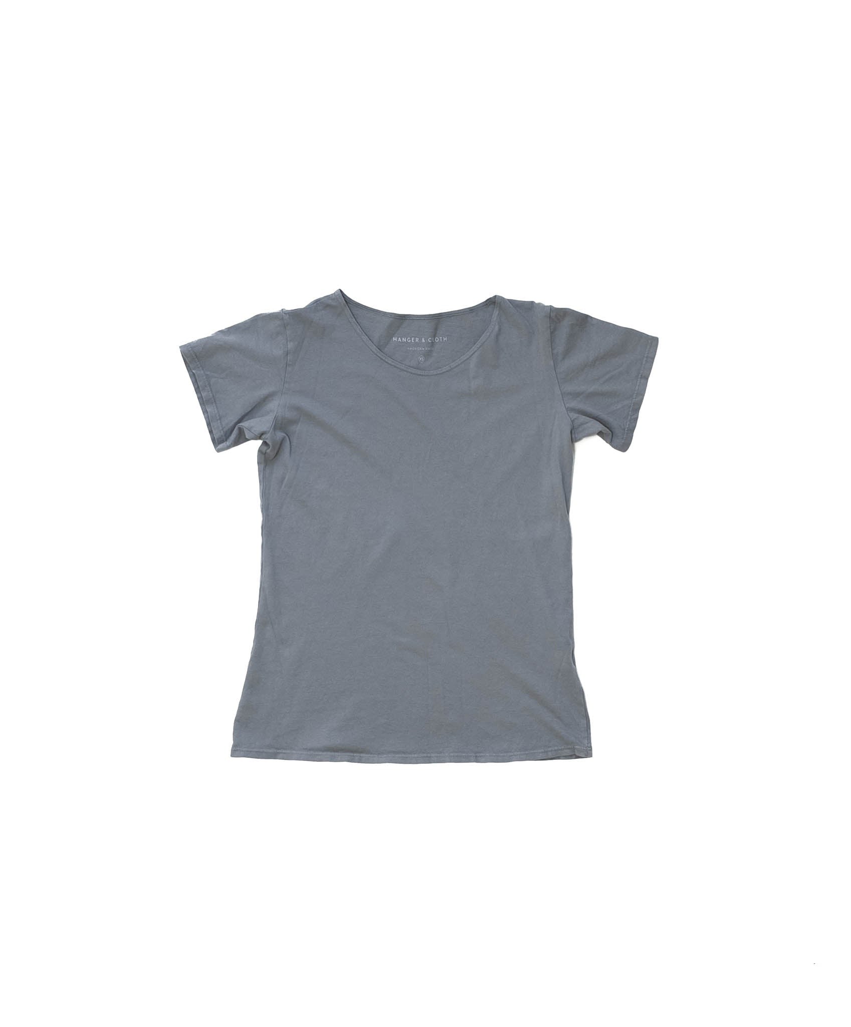 Soft Gray Organic Scoop Neck