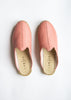 Luxe Leather Slide - Blush