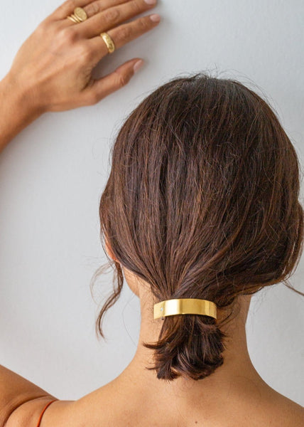 Barrette Slim Ponytail Clip - Gold - The Small Home
