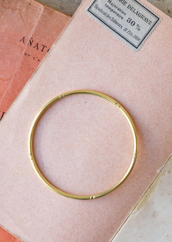 Brass Bangle with markings - The Small Home
