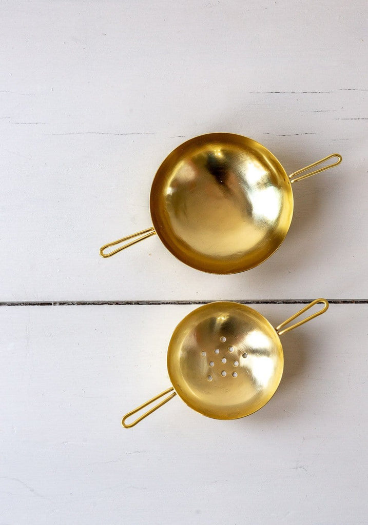 Brass Tea Strainer Set - The Small Home
