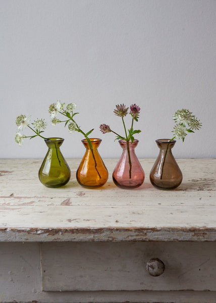 Bud Vase – Amber, Olive, Blush, Smoke - The Small Home