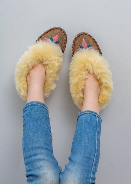 Children's Sheepskin Moccasin Slippers, Midnight Navy Blue - The Small Home - UK - Warm & cosy fur slippers, for boys & girls