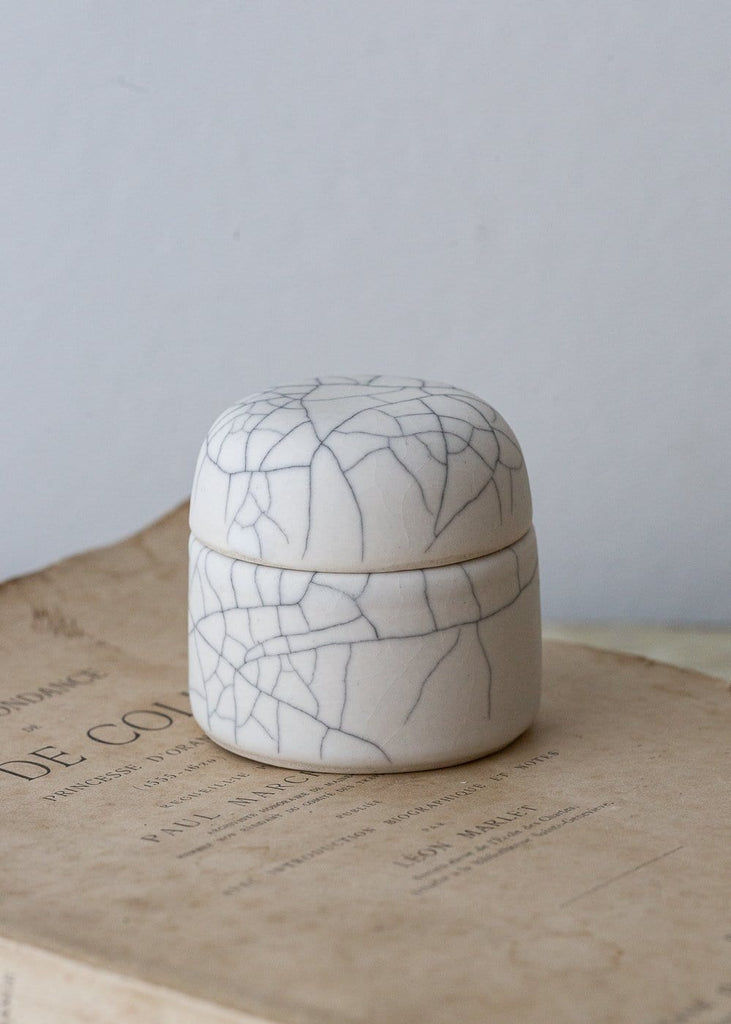 Crackled Salt/ Jewellery Pot - The Small Home
