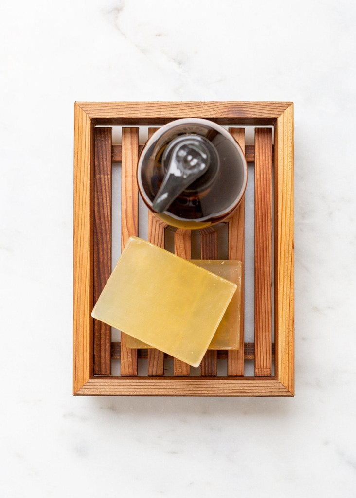 Geoffrey Fisher Cedar Soap Tray - The Small Home