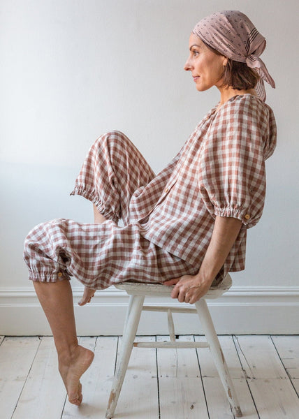 Gingham Pyjamas - Blush - The Small Home