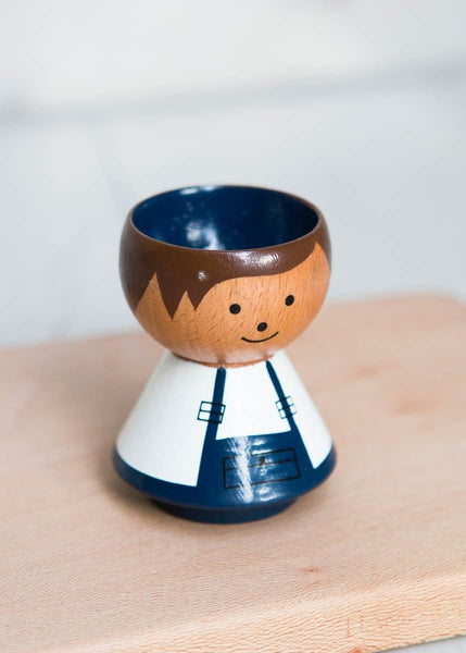 Hand-Painted Egg Cup – Boy Handyman - The Small Home